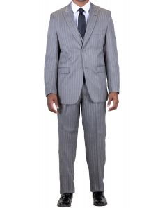 Stacy Adams Men's 3 Piece Fashion Suit - Bold Pinstripe