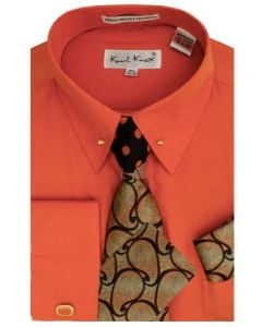 Karl Knox Men's French Cuff Shirt Set - Exotic Tie