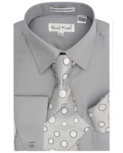 Karl Knox Men's French Cuff Shirt Set - Unique Polka Dots
