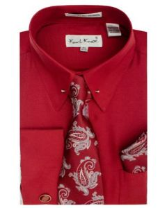 Karl Knox Men's French Cuff Shirt Set - Distinct Patterns