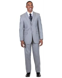 Falcone Men's 3 Piece Fashion Suit - Silk Look