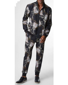 Silversilk Men's 2 Piece Athletic Walking Suit - Exotic Pattern