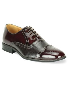 Giorgio Venturi Men's Leather Wide Dress Shoe - Two Tone Oxford