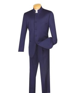 Vinci Men's 2 Piece Nehru Suit - 5 Button Fashion Style