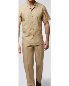 Stacy Adams Men's 2 Piece Walking Suit - Linen and Cotton