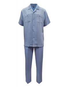 Silversilk Men's 2 Piece Short Sleeve Walking Suit - Double Pockets