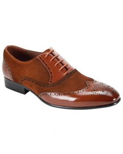 Giorgio Venturi Men's Leather Dress Shoe - Suede Accents