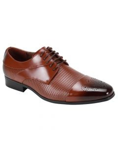 Giorgio Venturi Men's Outlet Leather Dress Shoe - Chain Link Texture