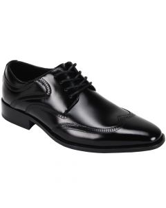 Giorgio Venturi Men's Leather Dress Shoe - Winged Tip