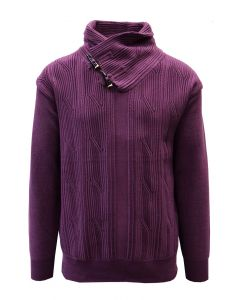 Silversilk Men's Sweater - Multi-Layered Neck