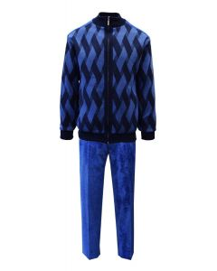 Silversilk Men's 2 Piece Long Sleeve Sweater Walking Suit - Dual Color Braid