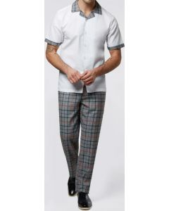 Stacy Adams Men's 2 Piece Walking Suit - Windowpane Accents