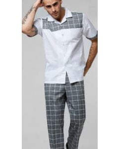 Stacy Adams Men's 2 Piece Walking Suit - Sleek Windowpane
