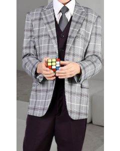 Statement Boy's 3 Piece Suit - Fashion Plaid