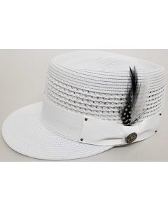 Bruno Capelo Men's Fashion Straw Hat - Legionnaire Style