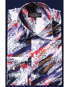 Daniel Ellissa Men's Outlet Fashion Dress Shirt - Painted Swirl Design