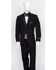 Zacchi Men's 3 Piece Fashion Suit - Solid Color