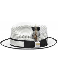 Steven Land Men's Straw Fedora Hat - Bold Accents