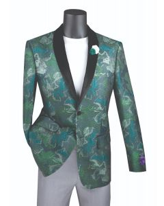 Vinci Men's Outlet Slim Fit Sport Coat - Tri-Colored Floral