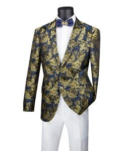 Vinci Men's Slim Fit Sport Coat - Bold Color
