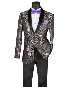 Vinci Men's Slim Fit Sport Coat - Vibrant Floral Pattern