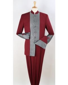 Royal Diamond Men's 2pc Nehru Style Suit - Pastor Church Suit