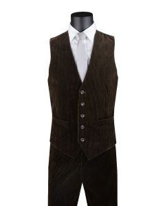 Vinci Men's 2 Piece Outlet Vest Set - Soft Corduroy