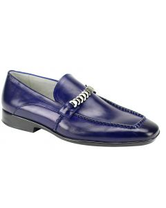 Giovanni Men's Leather Outlet Dress Shoe - Metal Fashion Accent
