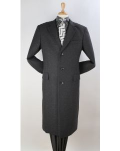 Apollo King Men's Outlet Full Length Top Coat - 3 Button Coat