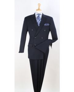 Apollo King Men's Outlet Wool Double Breasted Suit - Fashion Patterns