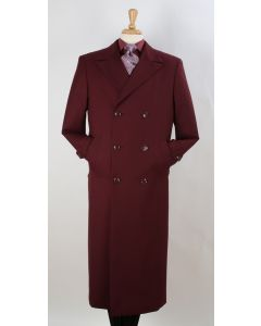 Apollo King Men's Full Length Top Coat - Banded Wrists