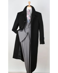 Royal Diamond Men's Wool Gabardine Top Coat - Duster Coat Style
