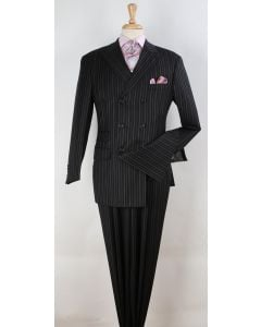 Apollo King Men's Outlet 3pc Double Breasted Suit -  Fashion Design