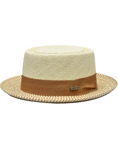 Steven Land Men's Straw Hat - Classic Pork Pie