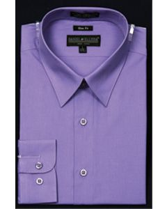 Daniel Ellissa Men's Basic Solid Dress Shirt - Slim Fit