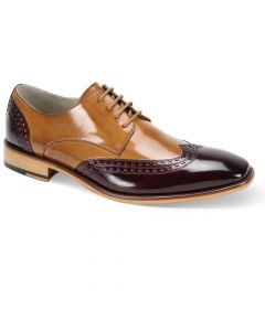 Giovanni Men's Outlet Leather Dress Shoe - Two Tone Wing Tip