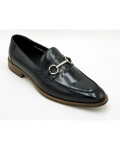 ZOTA Men's Premium Leather Dress Shoe - Metal Strap Accent