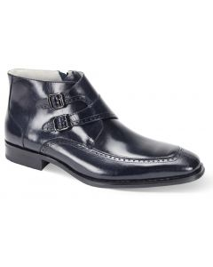 Giovanni Men's Leather Dress Boot - Double Buckle