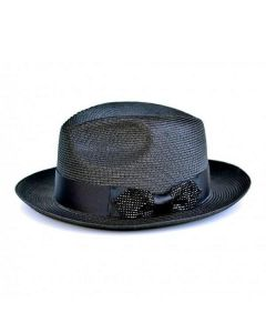 Steven Land Men's Straw Fedora Hat - Hollywood Style