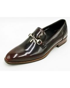ZOTA Men's Premium Leather Dress Shoe - Unique Metal Accent