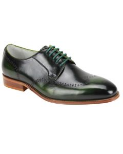 Giovanni Men's Outlet Leather Dress Shoe - Faded Two Tone Style