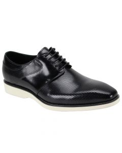 Giovanni Men's Leather Dress Shoe - Perforated Top