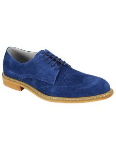 Giovanni Men's Leather Lace Up Dress Shoe - Smooth Suede