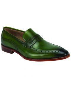 Giovanni Men's Leather Dress Shoe - Lined Perforations