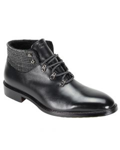 Giovanni Men's Leather Dress Boot - Faux Fur Lining