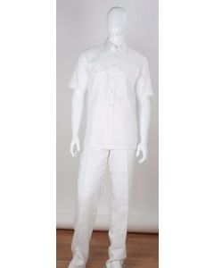 Apollo King Men's 2pc Short Sleeve Linen Walking Suit - Clearance