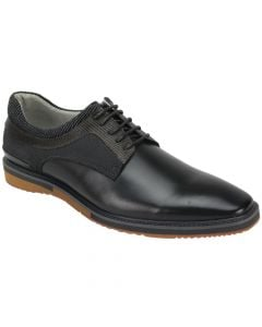 Giovanni Men's Leather Dress Shoe - Fabric Accents