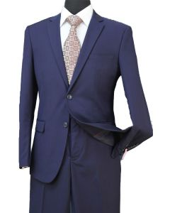 Loriano Men's Outlet 2pc Ultra Slim Fit Executive Suit - Modern Elegance
