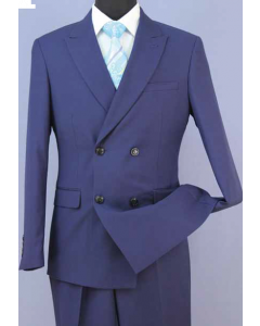 Loriano Men's 2pc Slim Fit Double Breasted Suit - Modern Style