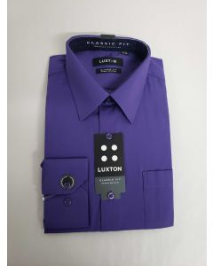 Luxton Men's Classic Fit Dress Shirt - Solid Color